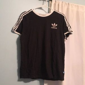 Black Adidas Striped T-Shirt